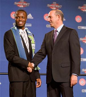 Steve Zakuani makes a strong case for ROY. (Getty Images)