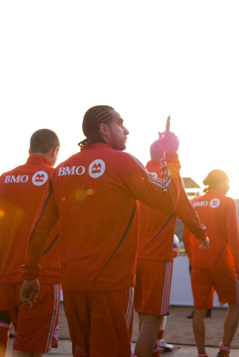 Dwayne De Rosario leads TFC against FC Dallas on Saturday. (Brian Stephens, WVH Photo Correspondent)