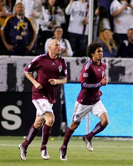 Conor Casey scored goals with ease against LA. (Getty Images)