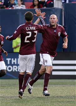 Conor Casey and Colin Clark lead Colorado over NY. (Getty Images)