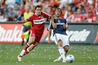 Marco Pappa and Chicago face Carey Tally and Chivas USA tonight. (Getty Images)
