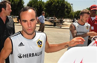 How's the tension between Landon Donovan and David Beckham? (Getty Images)