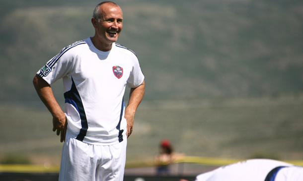 Dominic Kinnear is excited for tonight, are you? (photo via MLS)