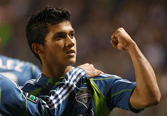 Fredy Montero leads Seattle tonight against New England. (Getty Images)