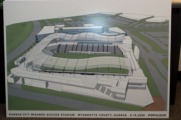 Rendering of the potential KC Wizards Stadium.
