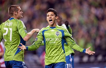 Fredy Montero leads the charge for the expansion Sounders. (Getty Images)