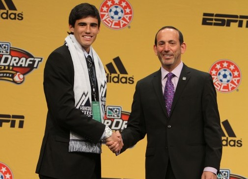 Omar Salgado was the surprise number 1 pick yesterday. (photo vis MLS)