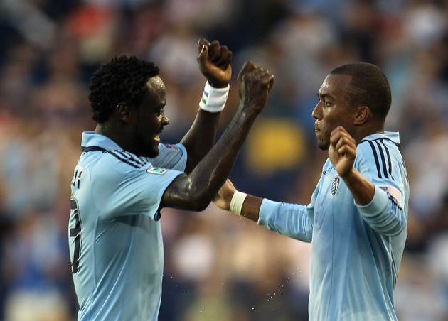 Kei Kamara and Teal Bunbury are a huge part of Sporting KC. (Getty Images)