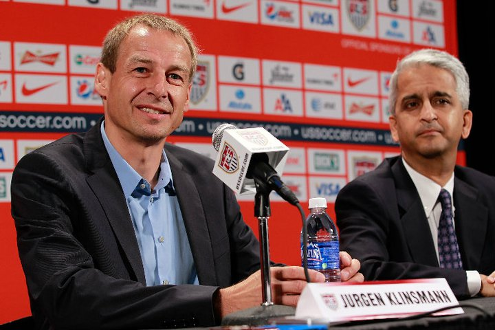 Jurgen Klinsmann's debut tonight overshadows the Mexican rivalry. (Photo from MLSSoccer.com)