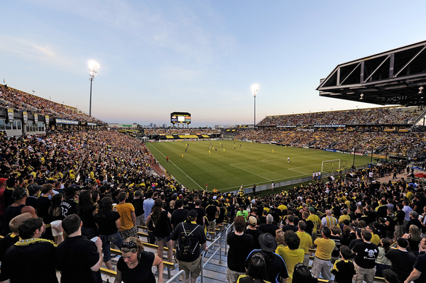 Crew Stadium, full...it can be done folks. (Getty Images)
