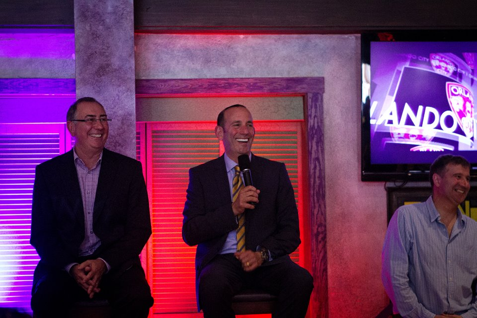 Garber visits Orlando to gage their expansion process. (Photo via Orlando City.)