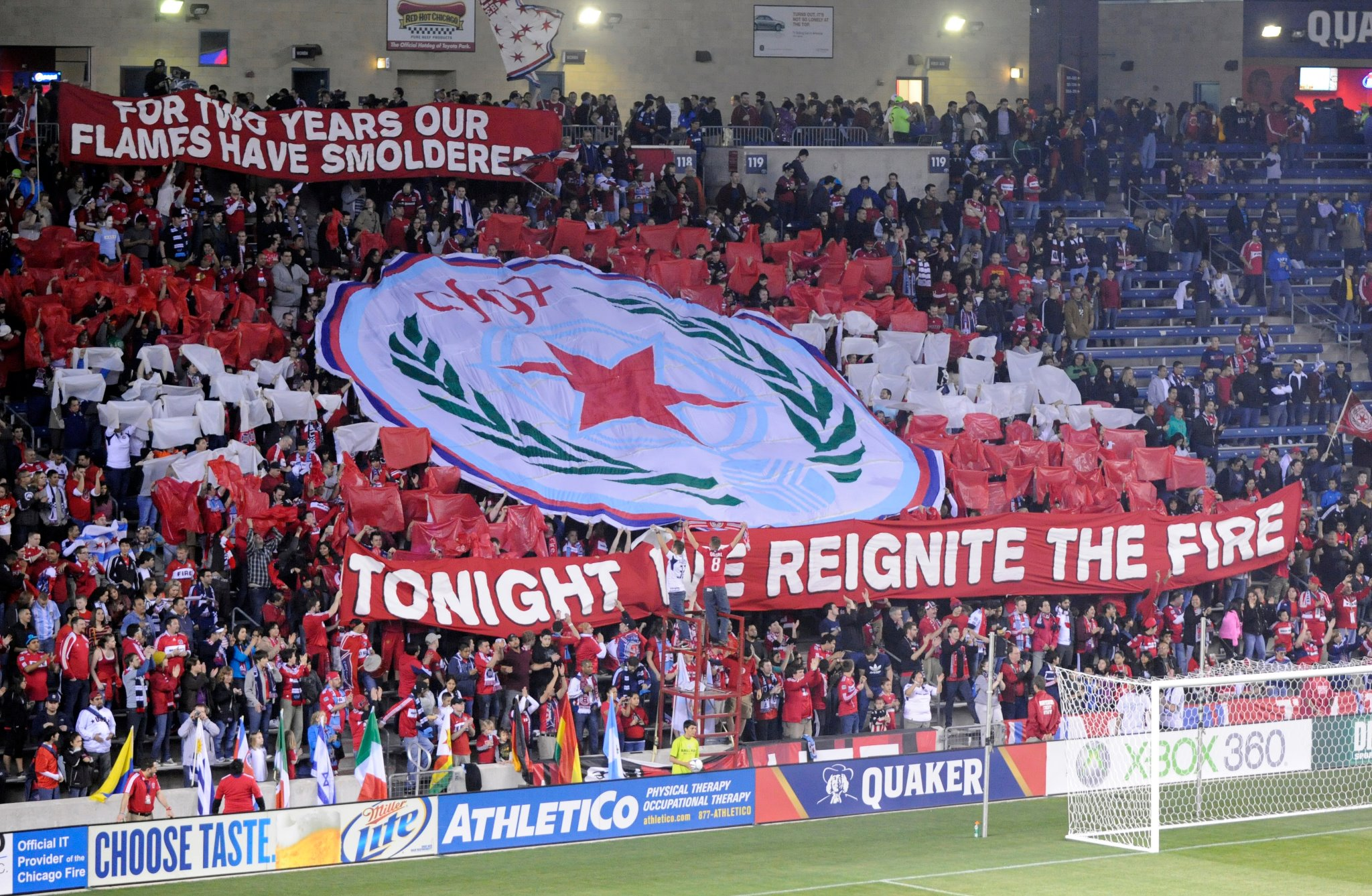Section 8 Tifo (Photo via Chicago Fire Facebook page)