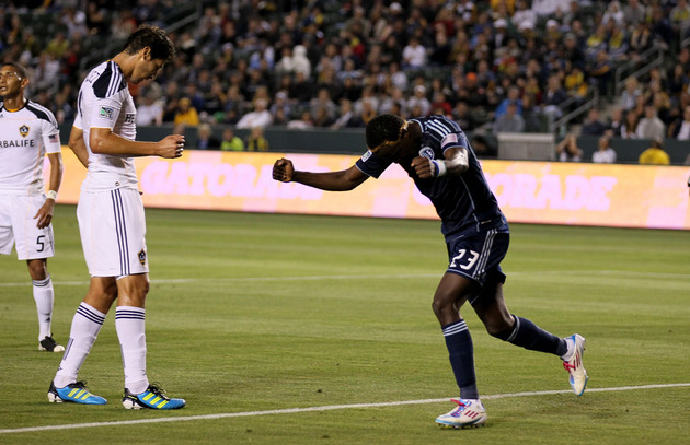 LA hopes to stop Kei Kamara and Sporting KC this weekend. (Getty Images)