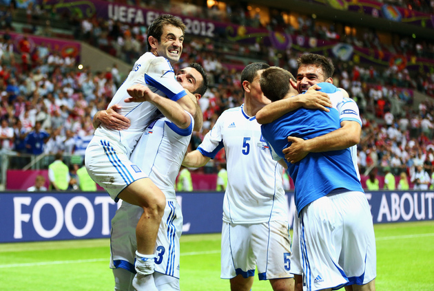Can Greece's magical run continue today against Germany? (Getty Images)