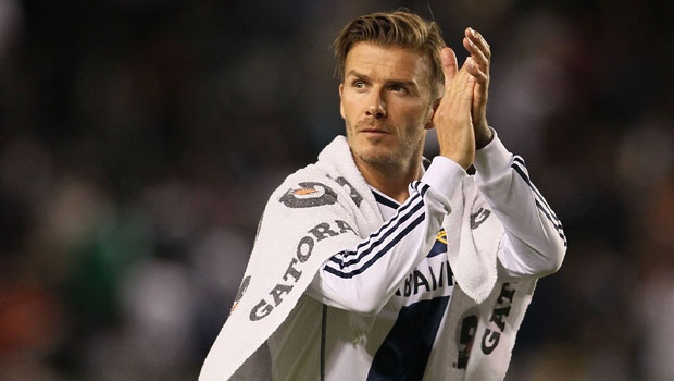 Beckham goes out a champion. (Getty Images)