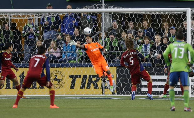 Nick Rimando was huge in the opening leg of the series against Seattle. (Getty Images)