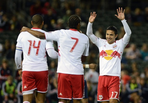 Tim Cahill and Thierry Henry have to step up in 2013. (Photo by Jennifer Stewart/Getty Images)