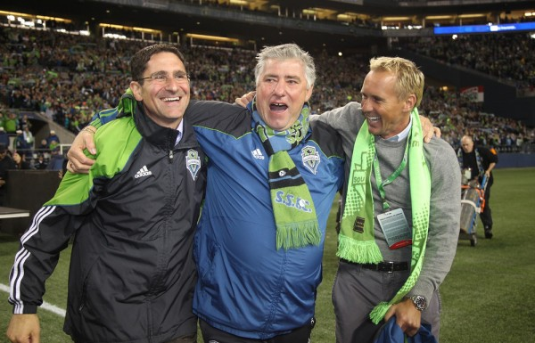 Could this be the year that Sigi Schmid and Seattle really celebrate? (Photo by Otto Greule Jr/Getty Images)