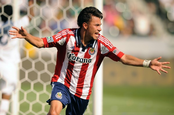 Carlos Alvarez had a big weekend for Chivas. (Kelvin Kuo-USA TODAY Sports)