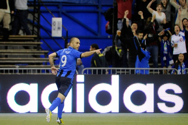 Marco Di Vaio leads Montreal this weekend against New York. (Photo by Richard Wolowicz/Getty Images)
