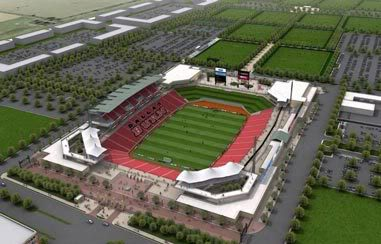 Original design to FC Dallas Stadium. 