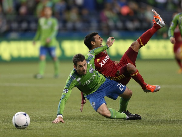 RSL and Seattle battle this weekend in a huge must win game for each side. (Photo by Otto Greule Jr/Getty Images)