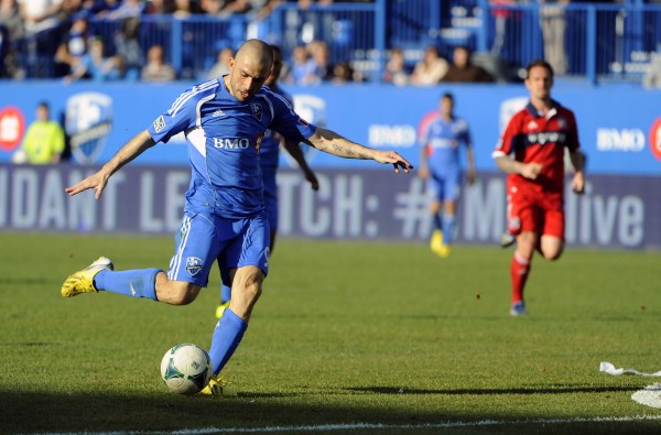 Marco Di Vaio and the Impact continue to charge on. (Eric Bolte-USA TODAY Sports)