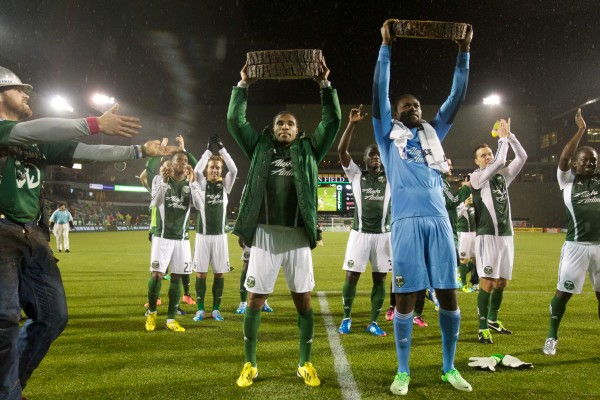 Ryan Johnson lifted the Timbers to their first win of the year. ( Jaime Valdez-USA TODAY Sports)