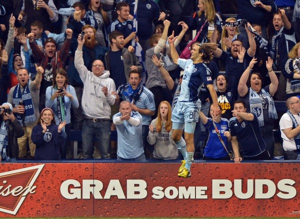 Graham Zusi and Sporting KC were all over Montreal. (Peter G. Aiken-USA TODAY Sports)