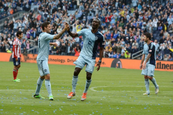 CJ Sapong and Sporting KC dominated Chivas USA this weekend. ( John Rieger-USA TODAY Sports)