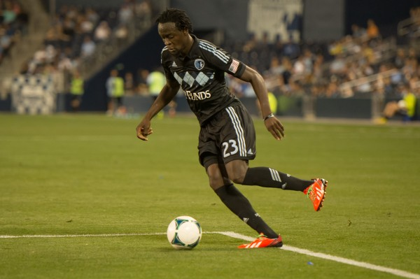 Kei Kamara and Sporting KC host Montreal this weekend. (Photo by Mark Shaiken - WVHooligan staff photographer)