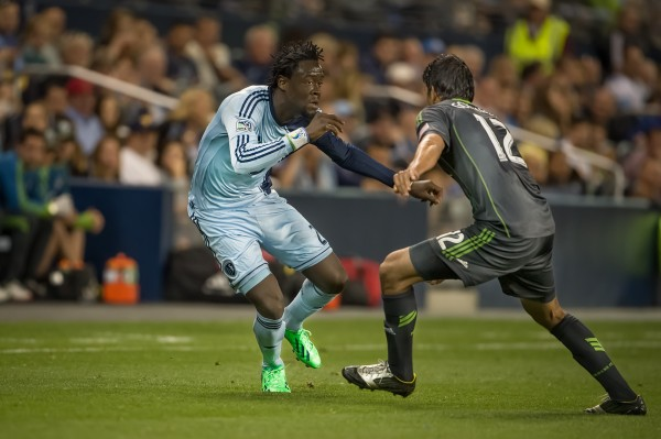 Can Kei Kamara help lead Sporting KC over Houston this weekend? (Photo by Mark Shaiken - WVHooligan staff photographer)
