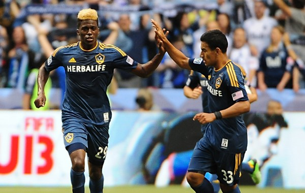 Gyasi Zardes (left) scored his first goal of the season last week. (Anne-Marie Sorvin-USA TODAY Sports)