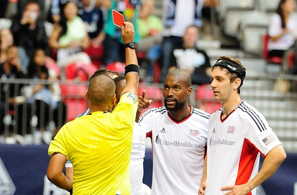 Yes Andrew, that is a red card. (Anne-Marie Sorvin-USA TODAY Sports)