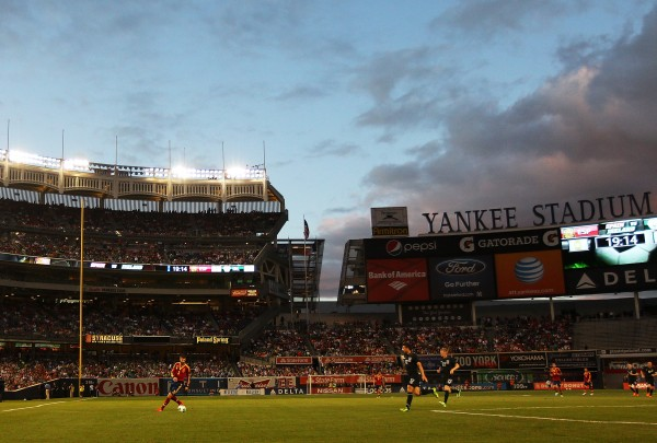 Yankee Stadium could be a temporary home to New York City FC in 2015. (Photo by Mike Stobe/Getty Images)