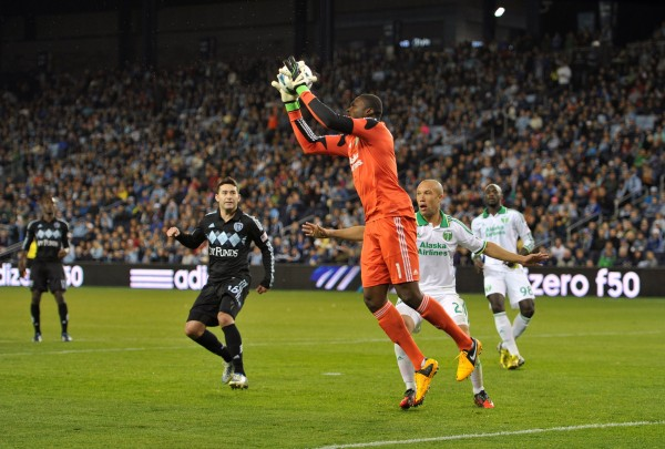 Donovan Ricketts has been stellar in goal for Portland this season. (Peter G. Aiken-USA TODAY Sports)