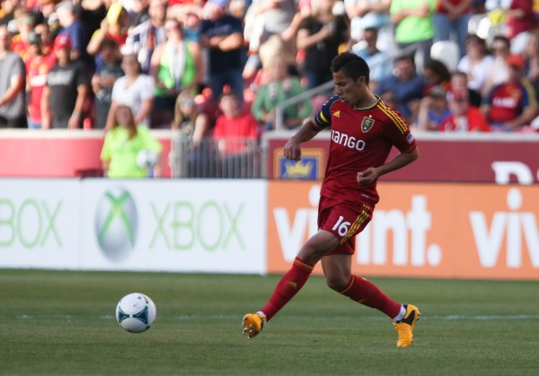 RSL homegrown defender Carlos Salcedo is starting to make his mark in the defense for Jason Kreis. (Kelley L Cox-USA TODAY Sports)
