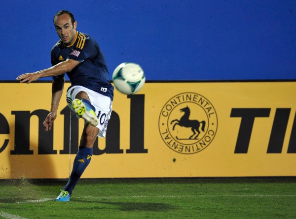 Landon Donovan's hat trick proves he is still MLS's King.  (Jerome Miron-USA TODAY Sports)