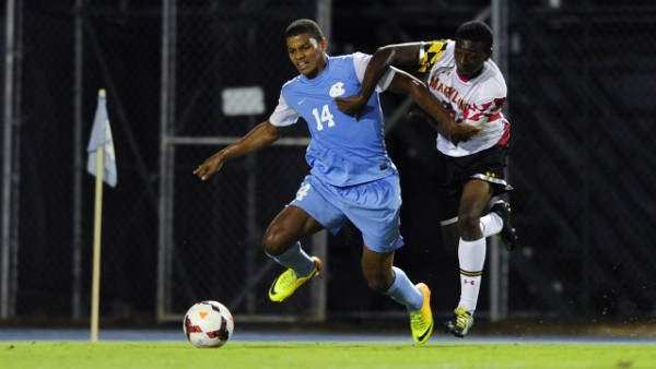 Omar Holness is beginning to stand out for UNC. (Photo via UNC Athletics/Jeffrey A. Camarati)