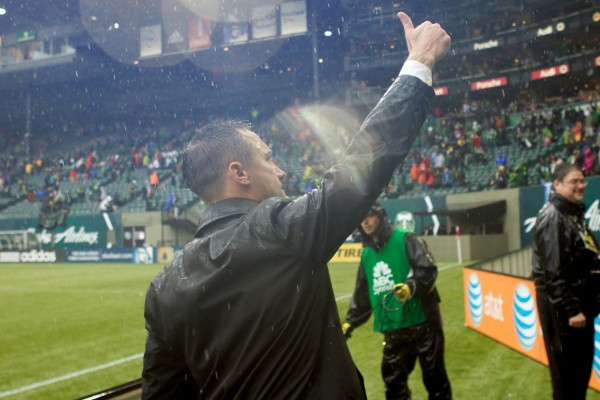 Caleb Porter and the Portland Timbers made a big statement on Sunday. (Jaime Valdez-USA TODAY Sports)