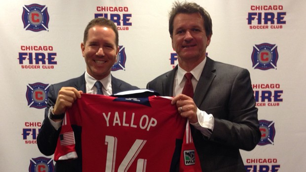 Yallop is the new manager of the Chicago Fire. (Photo via the Chicago Fire)