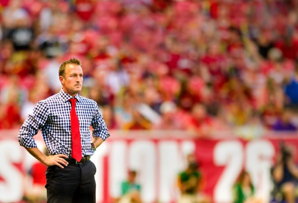 Jason Kreis is the big domino that could shake up the MLS coaching landscape this offseason. (Douglas C. Pizac-USA TODAY Sports)