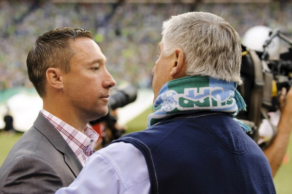 Can Caleb Porter get the best of Sigi Schmid this weekend? (Steven Bisig-USA TODAY Sports)