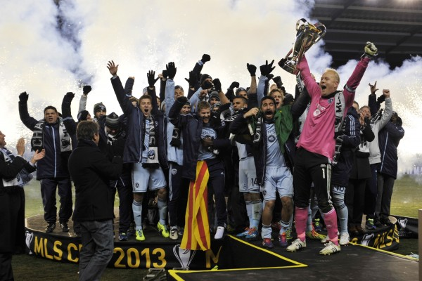 Sporting celebrates their second MLS Cup. (Peter G. Aiken-USA TODAY Sports)