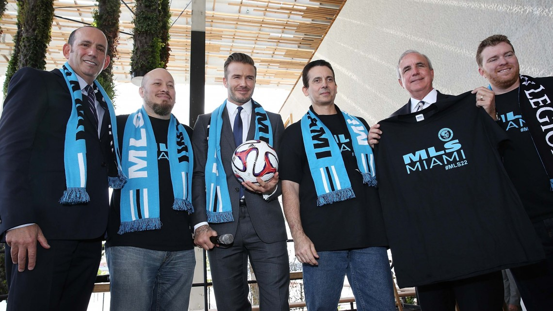 David Beckham and his group will lead up a MLS team in Miami. (Photo by Aaron Davidson/Getty Images)