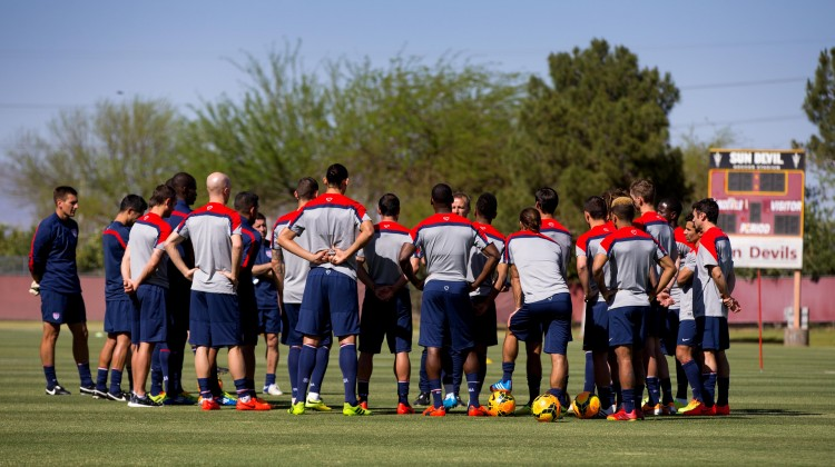 Soccer: U.S. Men's Team Practice